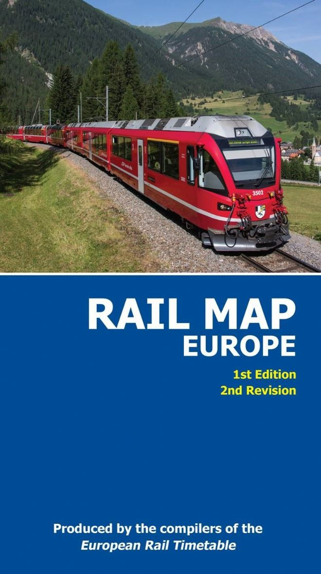 Printed Rail Map of Europe